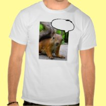 Customizable Squirrel Thought Bubble Say Anything T Shirts