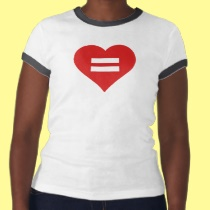 Equal Rights Marriage Equality Red Heart Love Tshirt