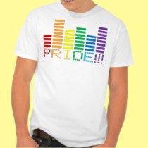 Gay Pride Rainbow Sound Bar 2013 Tee Shirt