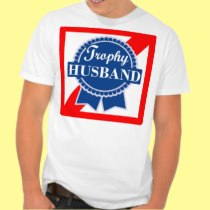 Trophy Husband Beer Lover Best Spouse Award Ribbon T-shirts